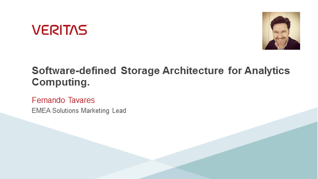 Software-defined Storage Architecture for Analytics Computing