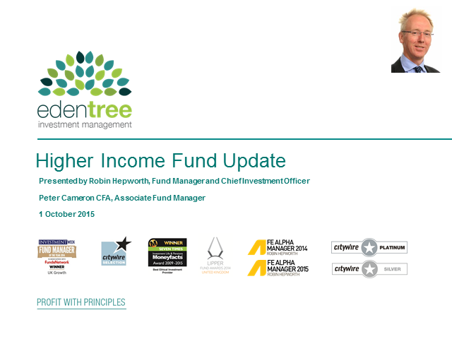 Higher Income Fund Update with Robin Hepworth CIO