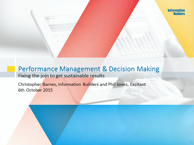 Performance Management & Decision-Making: Fixing the Join to get Results. Part 1