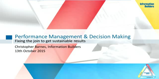 Performance Management & Decision-Making: Fixing the Join to get Results. Part 2