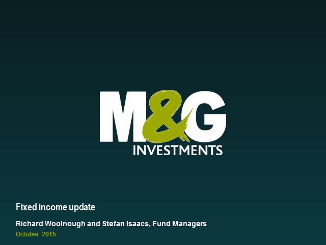 M&G Optimal Income Fund Webcast with Richard Woolnough and Stefan Isaacs
