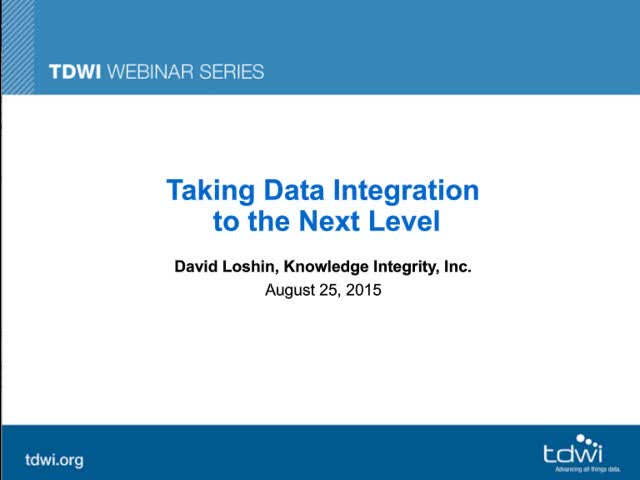 Taking Data Integration to the Next Level