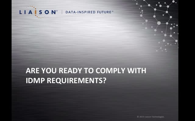 Are you ready to comply with IDMP requirements?