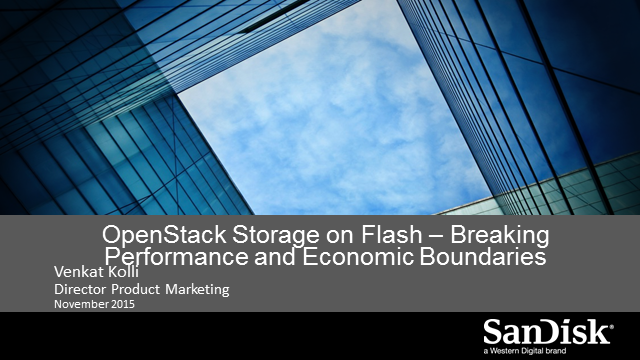How to Deploy All-Flash Cloud Infrastructure without Breaking the Bank