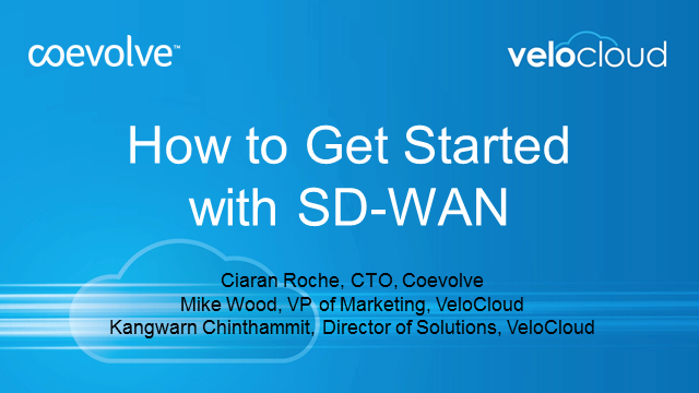 How to Get Started with SD-WAN