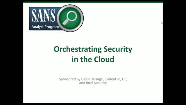 Orchestrating Security in the Cloud