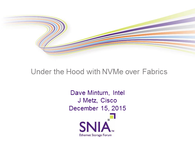 Under the Hood with NVMe over Fabrics