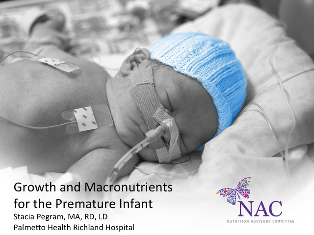Growth and Macronutrients for the Premature Infant