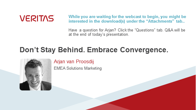 Don't stay behind. Embrace convergence.