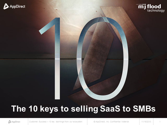 The 10 Keys to Selling SaaS to SMBs