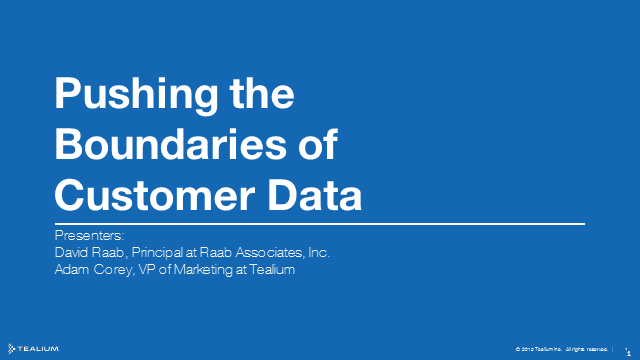How Marketers Can Push the Boundaries of Customer Data
