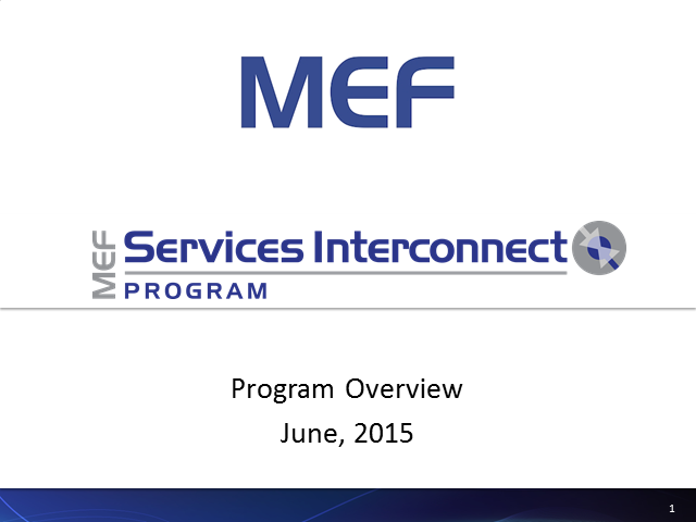 Global Market for Small Ethernet Access Operators - MEF Services Interconnect