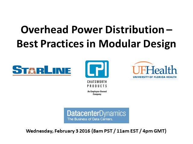 Overhead Power Distribution – Best Practice in Modular Design
