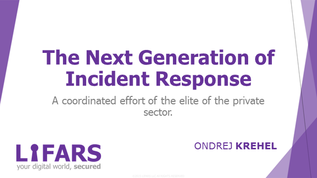 The Next Generation of Incident Response