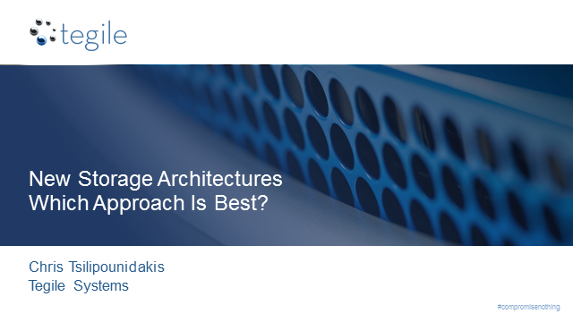 New Storage Architectures Driving Application Performance & IT Efficiency