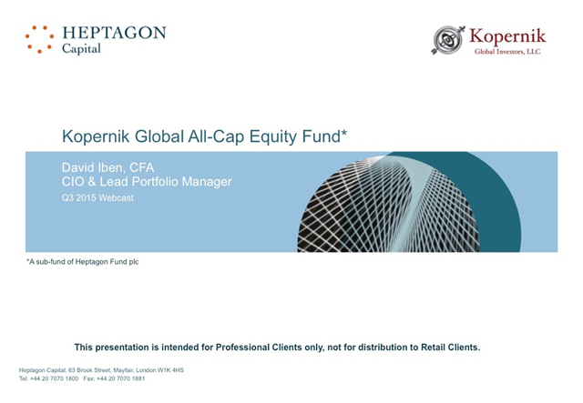 Kopernik Global All-Cap Equity Fund Q3 2015 Webcast