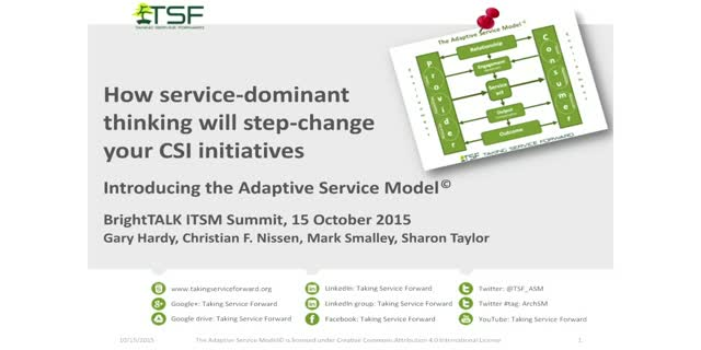 How service-dominant thinking will step-change your CSI initiatives