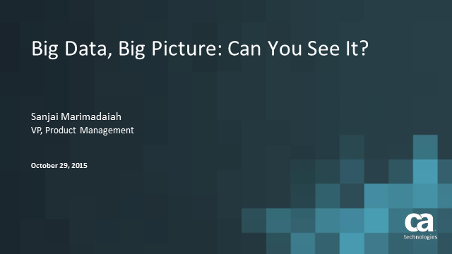 Big Data, Big Picture: Can you see it?