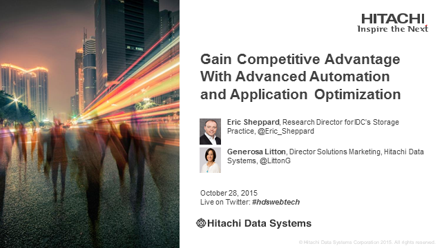 Gain Competitive Advantage with Advanced Automation and Application Optimization