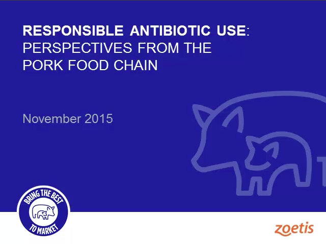Responsible antibiotic use: Perspectives from the food chain