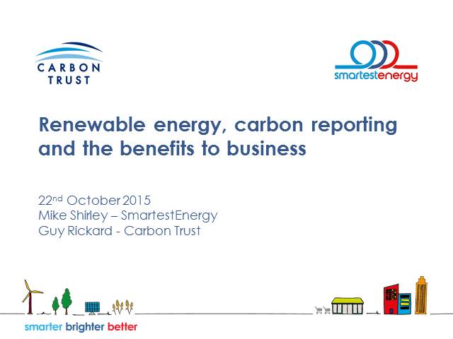 Business benefits of buying renewable electricity