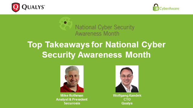Top Takeaways for National Cyber Security Awareness Month