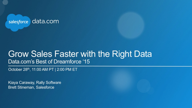 Grow Sales Faster with the Right Data