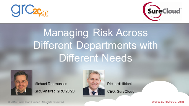Managing Risk Across Different Departments with Different Needs