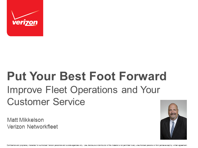 Put Your Best Foot Forward: Improve Fleet Operations and Your Customer Service