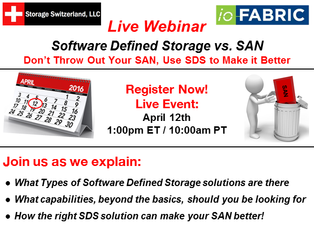 How To Use Software Defined Storage to Extend Your SAN, Not Replace it
