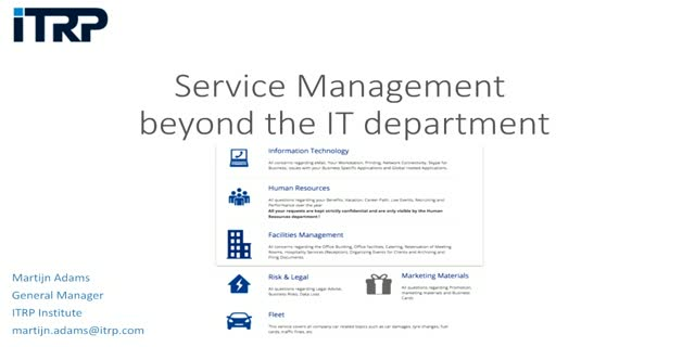 Service Management beyond the IT department