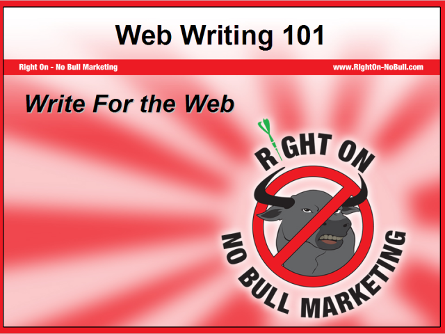 Web Writing 101: How to Write Search Engine Friendly Content