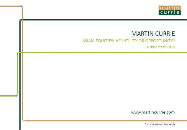 Asia Equities – Opportunity or Risk?