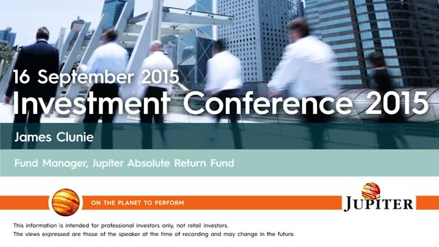James Clunie - Investment Conference 2015