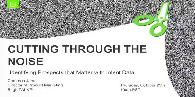 Cutting Through the Noise: Identifying Prospects that Matter with Intent Data