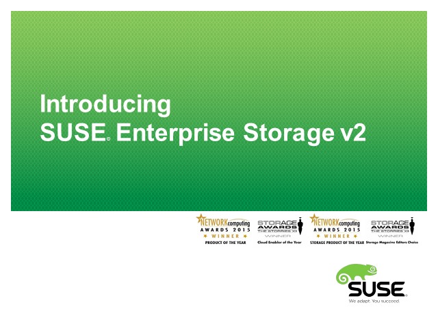Storage Redefined: Introducing SUSE Enterprise Storage 2