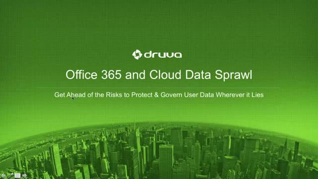 Office 365 and Cloud Data Sprawl
