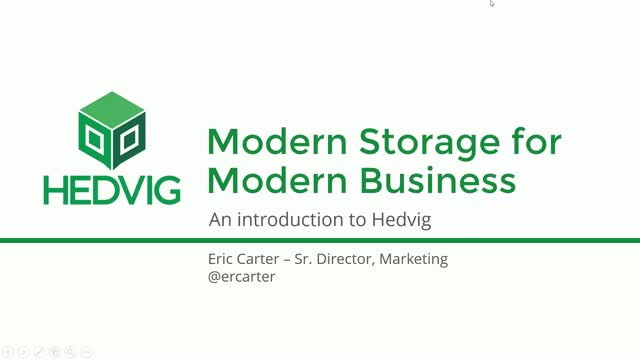 Modern Storage for Modern Business: An Introduction to Hedvig