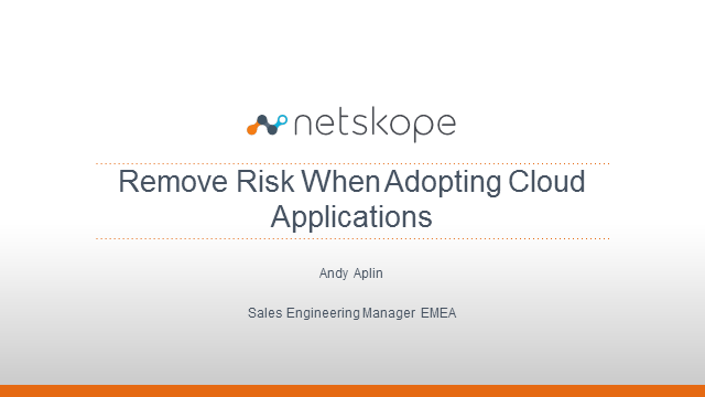 Remove Risk When Adopting Cloud Applications