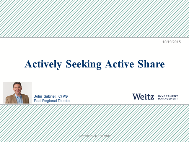 Actively Seeking Active Share
