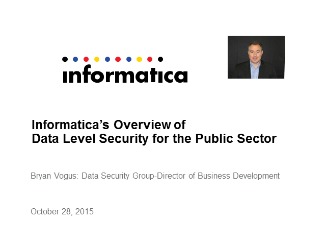Data Level Security for the Public Sector