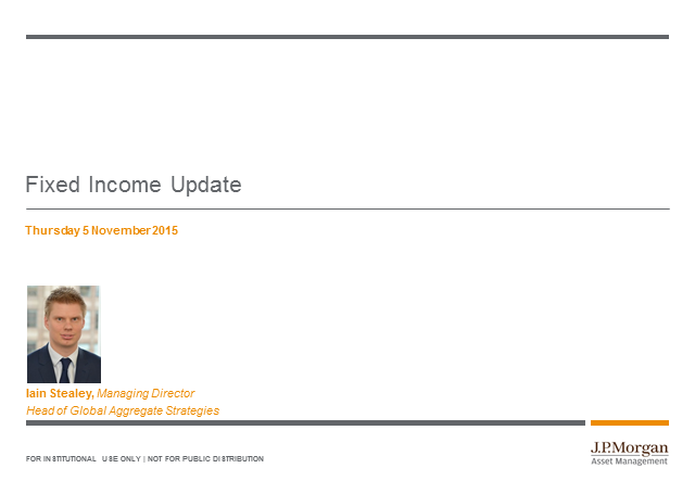 J.P. Morgan Structured CPD call: Fixed income update (Q4 2015)