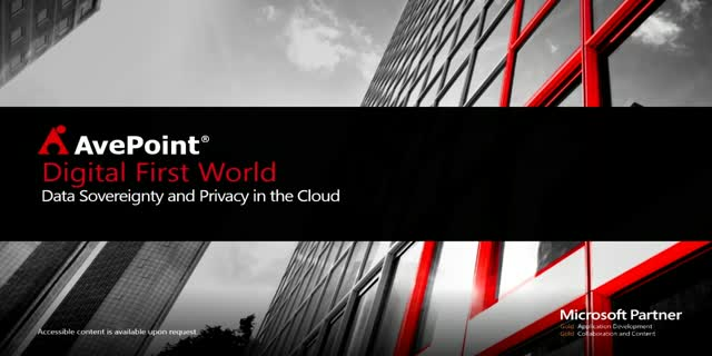 Digital First World: Data Sovereignty and Privacy in the Cloud