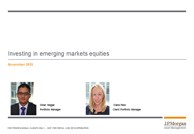 Bitesize update: JPM Emerging Markets and Emerging Markets Income