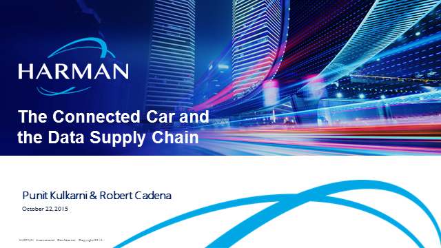 The Connected Car and the Data Supply Chain
