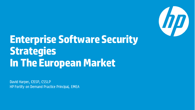 Enterprise Software Security Strategies In The European Market