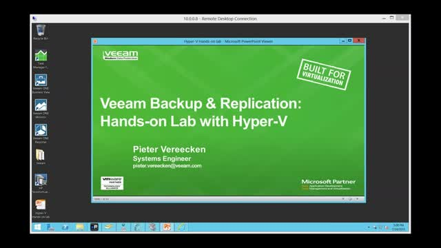 Hands-on Lab with Hyper-V and Veeam Availability Suite v8