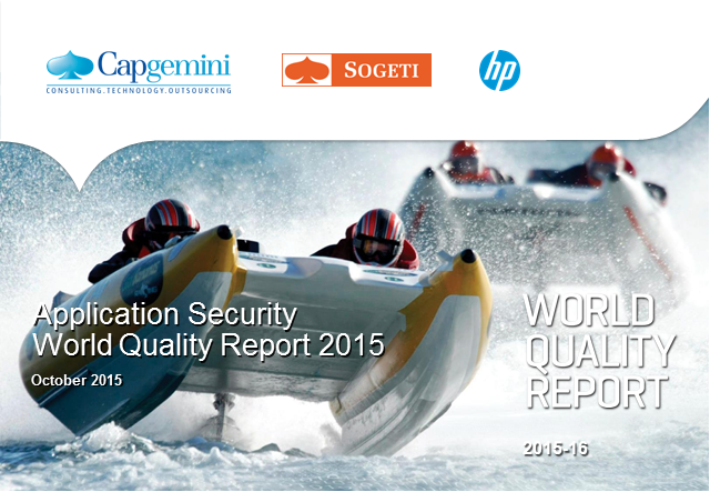 App Security Testing: Cybersecurity insights from World Quality Report 2015-16