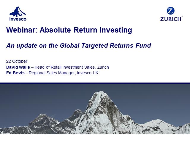 Investment Webinar: Absolute Return Investing with Zurich