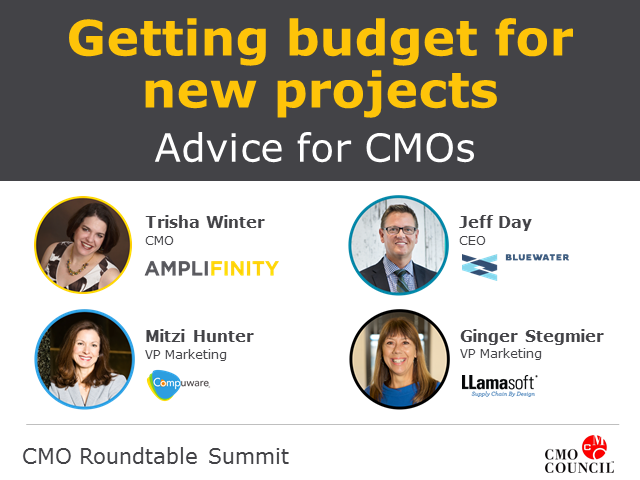 Getting Budget for New Projects: Advice for CMO's